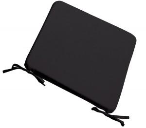 Μαξιλάρι Stool για κάθισμα 39x39cm σε χρώμα Μαύρο