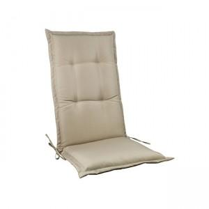 Μονοκόμματο μαξιλάρι Flap για καρέκλα με πλάτη 72cm σε χρώμα Cappuccino