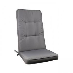 Μονοκόμματο μαξιλάρι Gord για καρέκλα με πλάτη 72cm  σε χρώμα Γκρι