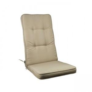 Μονοκόμματο μαξιλάρι Gord για καρέκλα με πλάτη 72cm  σε χρώμα Cappuccino