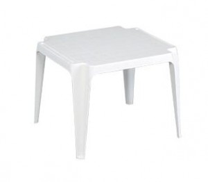 Χαμηλό πλαστικό Τραπέζι Xenia Λευκό