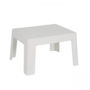 Χαμηλό πλαστικό Τραπέζι Ξαπλώστρας Capri Λευκό