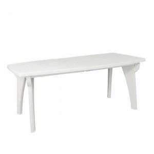 Πλαστικό Τραπέζι φαγητού Areta Lipari 180x90cm Λευκό