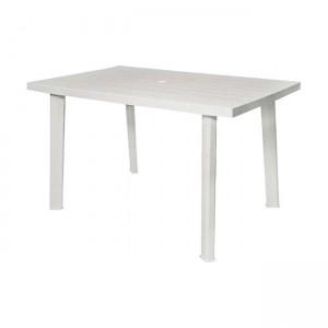 Πλαστικό Τραπέζι φαγητού Progarden Velo 125x75cm Λευκό