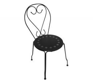 Μεταλλική καρέκλα Bistro Μαύρη