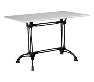 Τραπέζι με Μάρμαρο Αίθριο Παραλληλόγραμμο 70x110cm