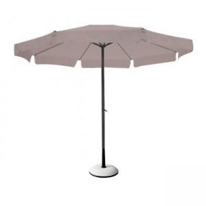 Στρογγυλή ομπρέλα αλουμινίου Ø3m με γρύλο Μπεζ