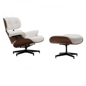 Ρέπλικα της διάσημης πολυθρόνας Eames Lounge Chair White