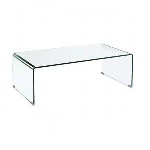 Γυάλινο τραπέζι σαλονιού 110x55cm Glasser Διάφανο