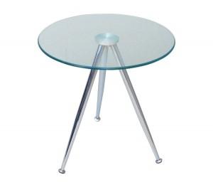 Γυάλινο τραπέζι σαλονιού Ø50cm Mabel