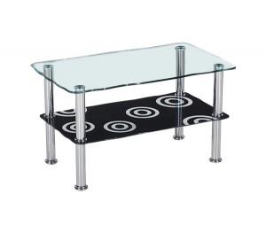 Γυάλινο τραπέζι σαλονιού 75x45cm Daniel Deco