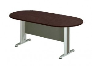 Οβαλ γραφείο συνεδρίου με μεταλλικά πόδια Q-series Wenge 180x90cm