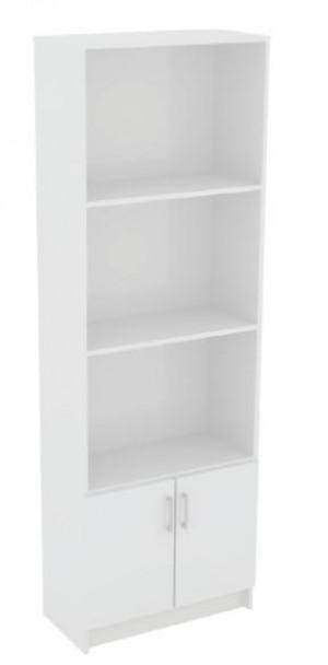 Βιβλιοθήκη 60cm με ντουλάπι και 3 ράφια Decon Λευκό