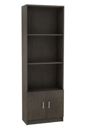 Βιβλιοθήκη 60cm με ντουλάπι και 3 ράφια Decon Βένγκε