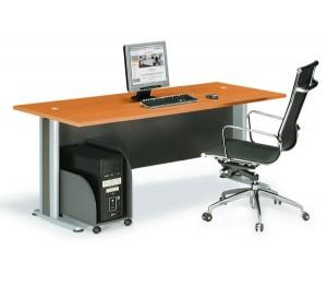 Επαγγελματικό γραφείο μελαμίνης με μεταλλικά πόδια E-series Cherry 180cm
