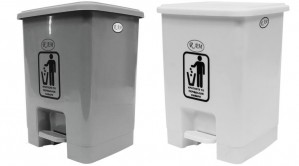 Κάδος απορριμάτων WC με πεντάλ RAM 15lt