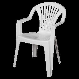 Στοιβαζόμενη πλαστική καρέκλα Areta Lido Λευκή