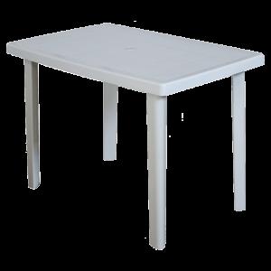 Πλαστικό Τραπέζι φαγητού Areta Marte 100x70cm Λευκό