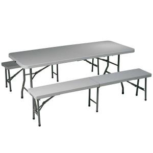 Σετ Pic Nic Πτυσσόμενο τραπέζι 180x75cm με δύο πτυσσόμενους πάγκους 180cm