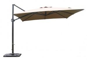 Κρεμαστή ομπρέλα αλουμινίου τετράγωνη Gloria ECO 3x3 σε Μπεζ