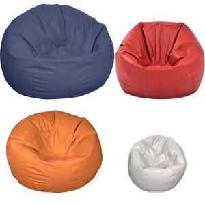 Κάθισμα πουφ μονόχρωμη Μπάλα από δερματίνη σε 4 διαστάσεις