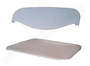 Ανταλλακτικά πλάτη / κάθισμα λευκά για Sabrina steel