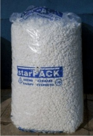 Γαριδάκι διογκωμένης πολυστερίνης για συσκευασίες Starpack 0,5m³