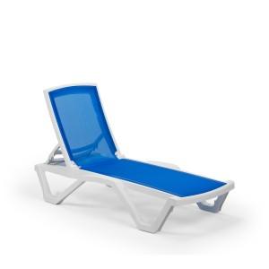 Στοιβαζόμενη πλαστική ξαπλώστρα Tilia Mare Sunbed χωρίς μπράτσα Λευκό
