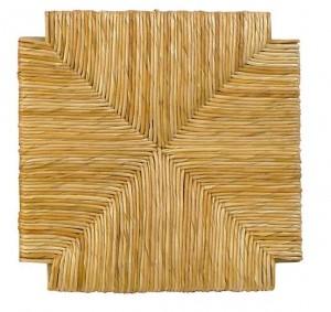 Τετράγωνο κάθισμα τελάρο φυσικής ψάθας 605 - Διάσταση: 33x33cm
