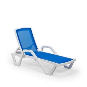 Στοιβαζόμενη πλαστική ξαπλώστρα Tilia Mare Sunbed Λευκό