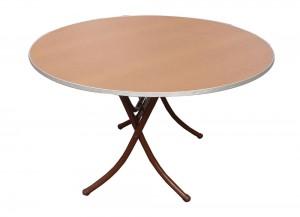 Πτυσσόμενα τραπέζια ροτόντες από μελαμίνη 16mm σε 10 διαστάσεις και 2 χρώματα