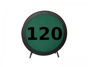 Πτυσσόμενο τραπέζι Poker με επιφάνεια τσόχας και τεχνόδερμα PU περιμετρικά διάσταση Ø120cm
