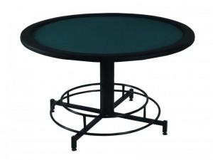 Επαγγελματικό τραπέζι Poker με επιφάνεια τσόχας και τεχνόδερμα PU περιμετρικά διάσταση Ø150cm