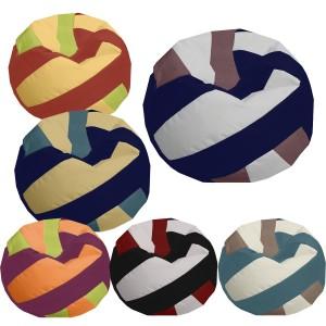 Κάθισμα πουφ σε σχήμα μπάλας Βόλεϋ με Δερματίνη