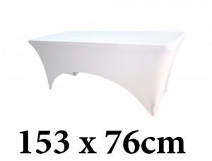 Ελαστικό κάλυμμα Stretch για μακρόστενο τραπέζι 153x76cm Λευκό